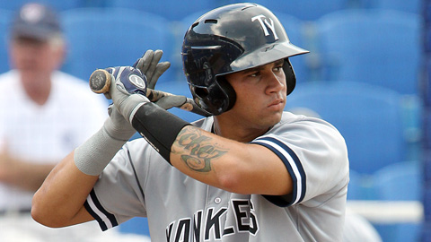Gary Sanchez had his second three-hit game for the Tampa Yankees.